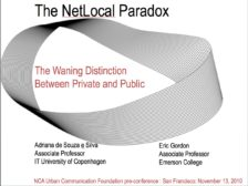 The Net-Local paradox: The waning distinction between private and public