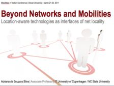 Location-aware technologies as interfaces of hybrid spaces: Beyond networks and mobilities
